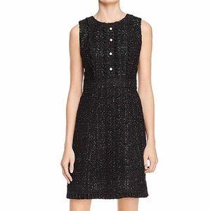Kate Spade Sparkle Tweed Black Dress NWT 0